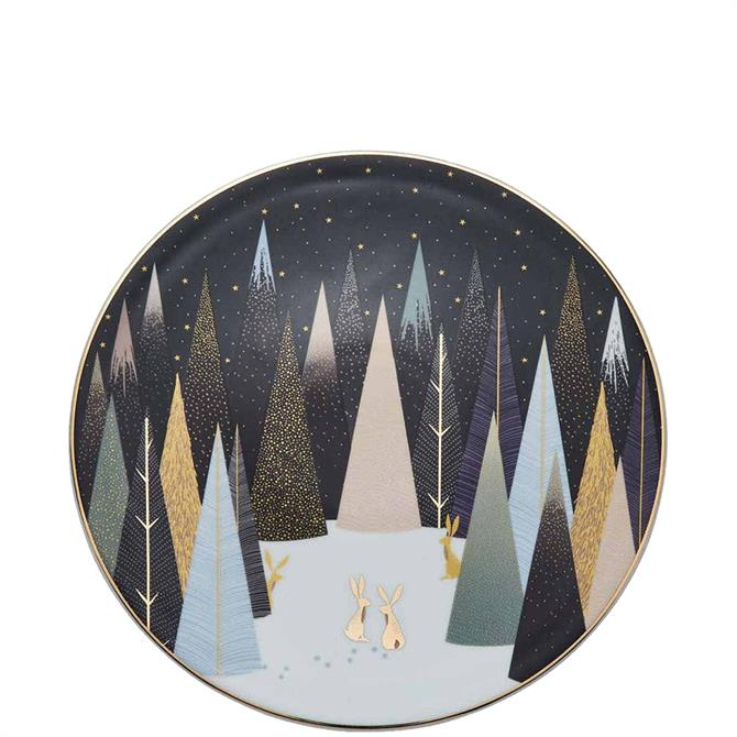 Sara Miller London Portmeirion Frosted Pines Serving Plate