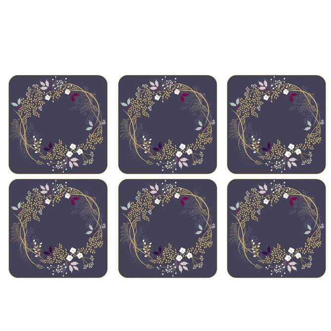 Sara Miller London Portmeirion Garland Set of 6 Coasters