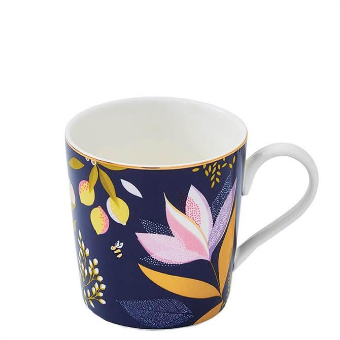 Sara Miller London Portmeirion Navy Orchard Mug