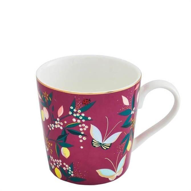 Sara Miller London Portmeirion Deep Mauve Orchard Mug