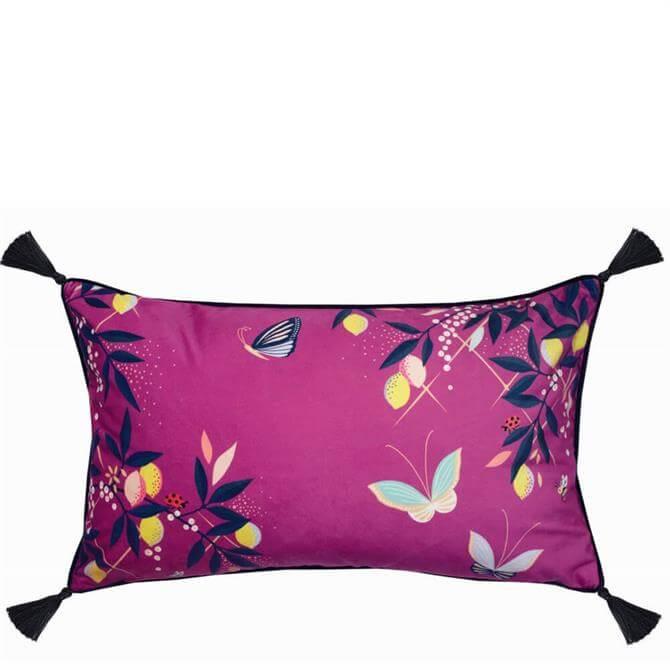 Sara Miller Butterflies Pink Cushion