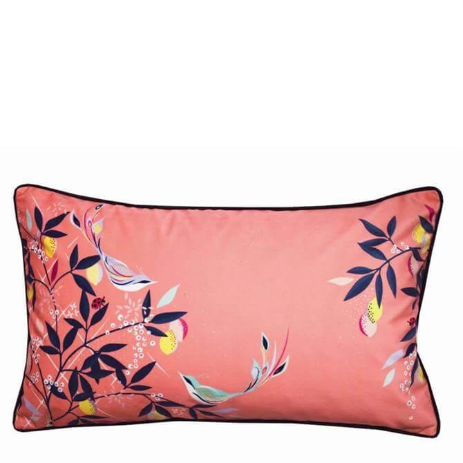 Sara Miller Coral Bird Cushion