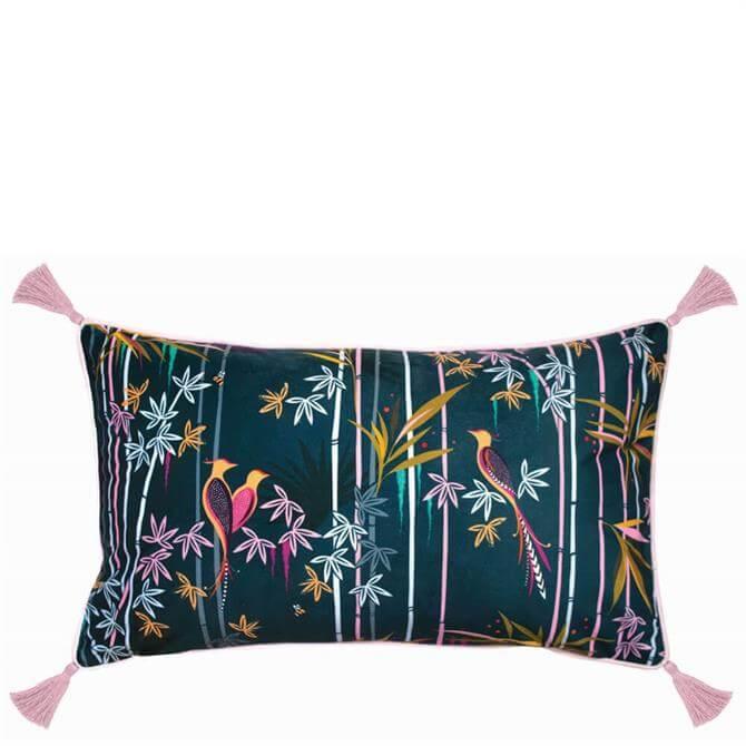 Sara Miller Linear Bamboo Midnight Cushion