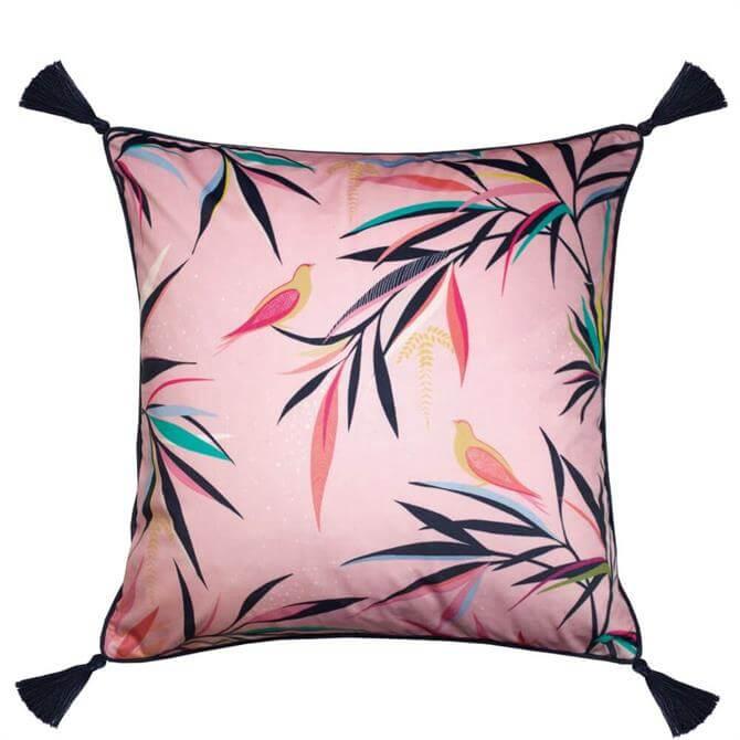 Sara Miller Bamboo Pale Pink Cushion