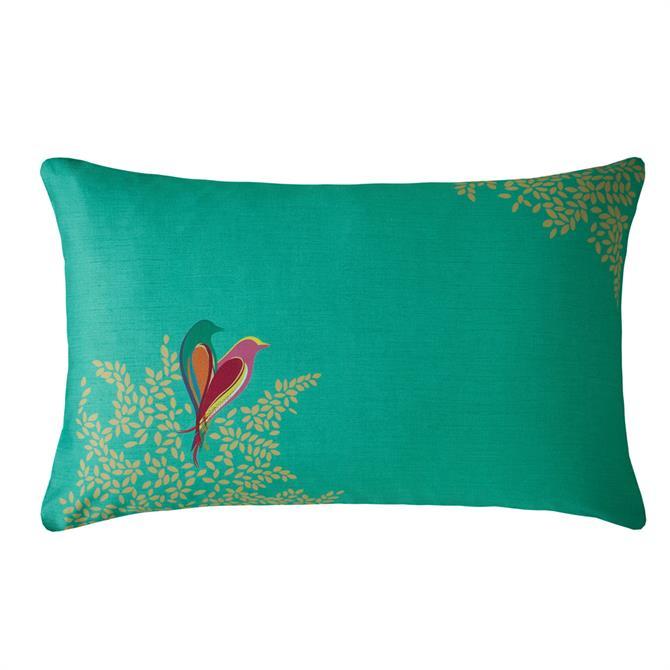 Sara Miller Green Birds Pair of Standard Pillowcase