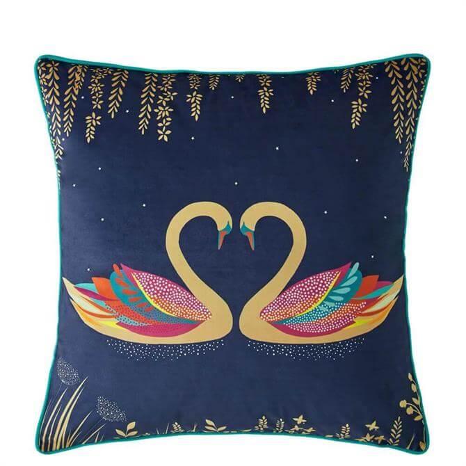 Sara Miller Swan Cushion
