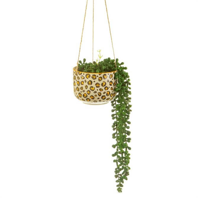 Sass & Belle Leopard Love Hanging Planter