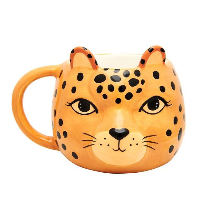 Sass & Belle Leopard Love Shaped Mug