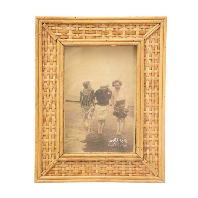 Sass & Belle Rattan Photo Frame 6x4