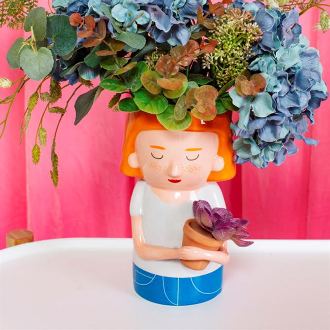 Sass & Belle Plant Mum Vase with Mini Planter