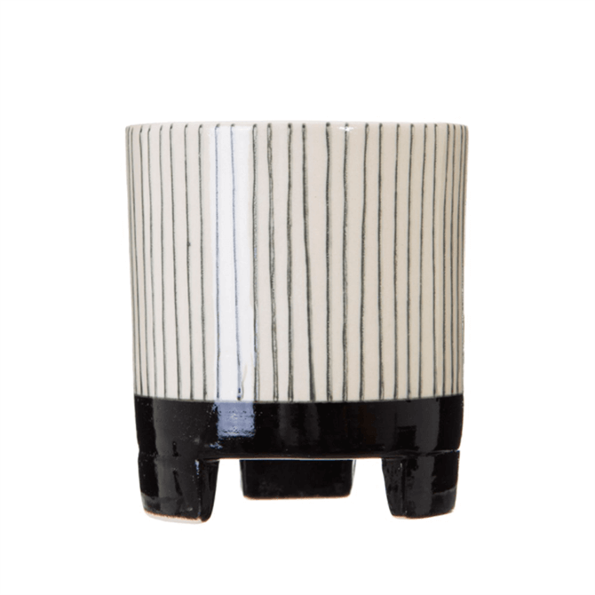 Sass & Belle Small Striped Geometric Planter