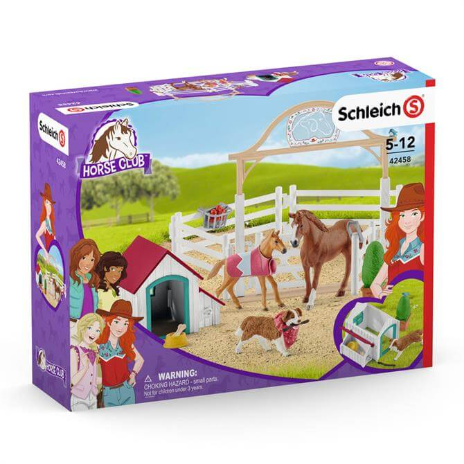 Schleich Horse Club Hannah's Guest Horses with Ruby the Dog 42458