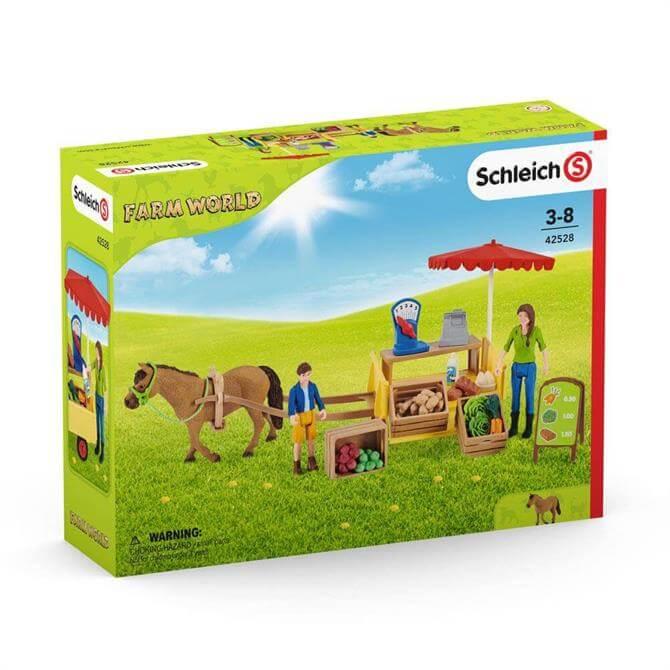 Schleich Farm World Sunny Day Mobile Farm Stand Playset