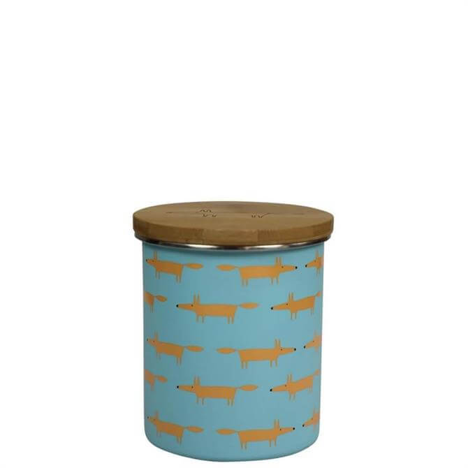 Scion Mr Fox Blue Storage Jar