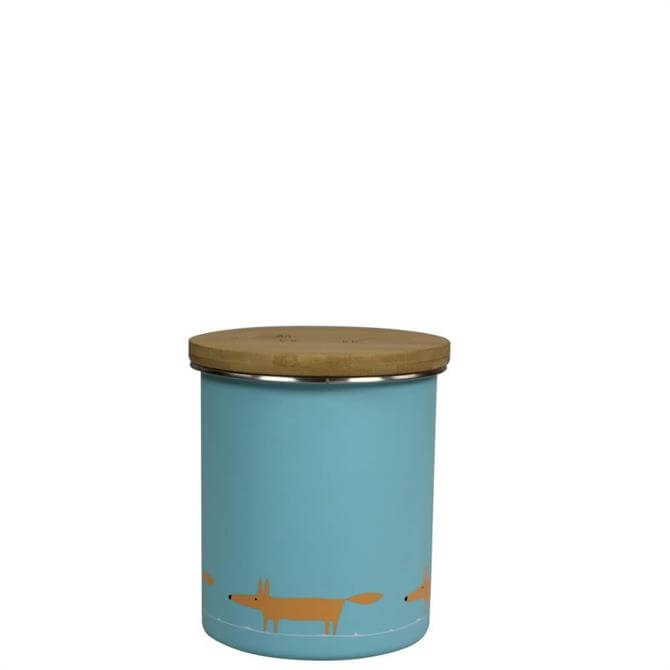 Scion Mr Fox Single Print Blue Storage Jar