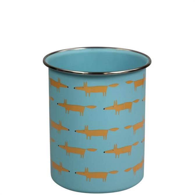 Scion Mr Fox Blue Utensil Jar
