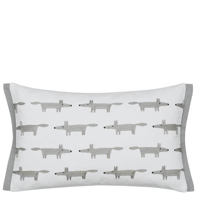 Scion Mr Fox Silver Cushion