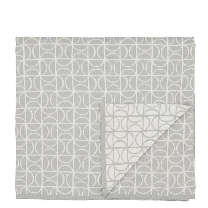 Scion Ocotillo Grey Knitted Throw