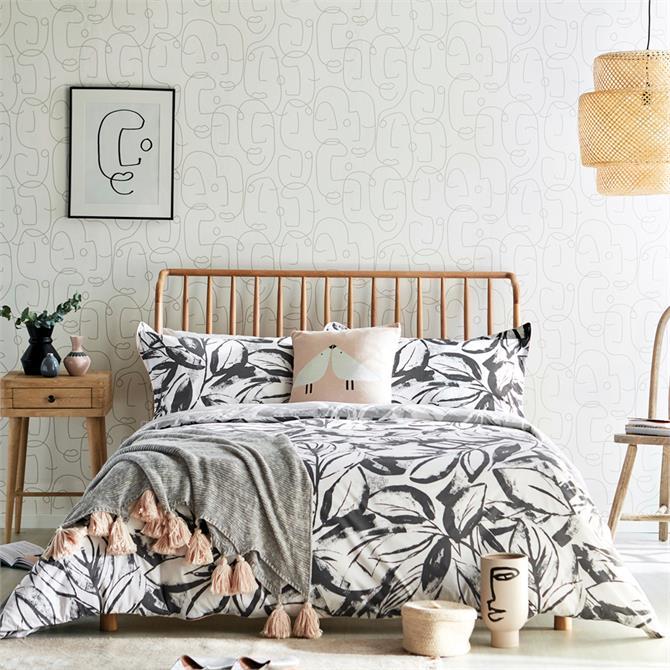 Scion Padua Charcoal Duvet Cover