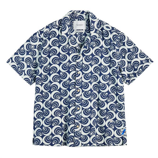 Scotch & Soda Short Sleeve Cotton Denim Shirt