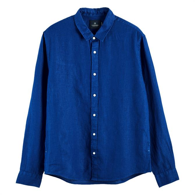 Scotch & Soda Long Sleeve Linen Shirt