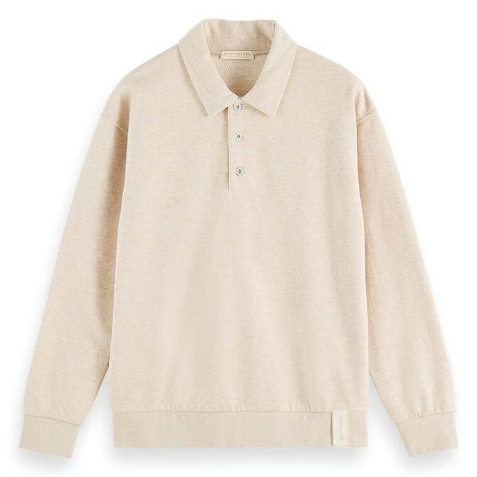 Scotch & Soda Structured Polo-Inspired Sweater