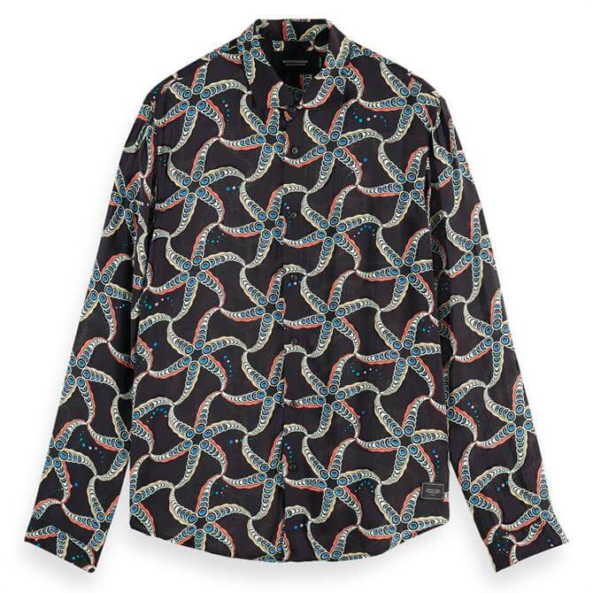 Scotch & Soda Printed Relaxed Fit Shirt