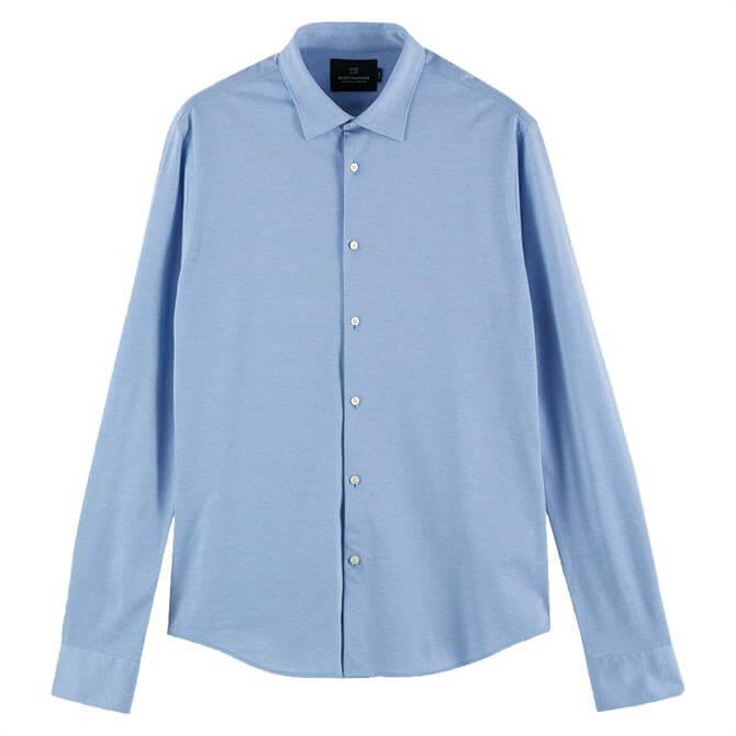 Scotch & Soda Classic Knitted Slim Fit Shirt