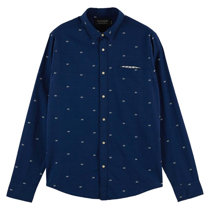 Scotch & Soda Regular Fit Cotton Shirt