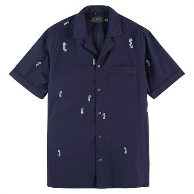 Scotch & Soda Short Sleeve Printed Cotton Shirt