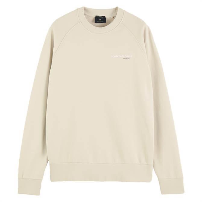 Scotch & Soda Logo Graphic Organic Cotton Sweater