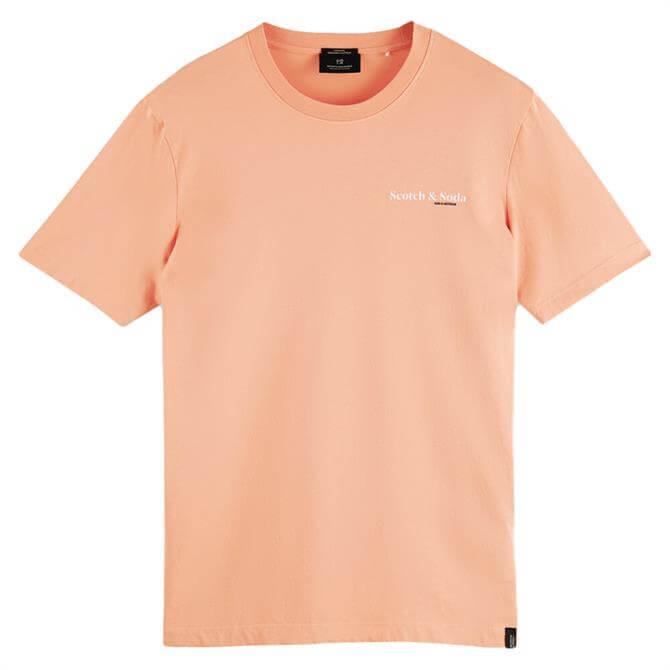 Scotch & Soda Logo Graphic Organic Cotton T-Shirt