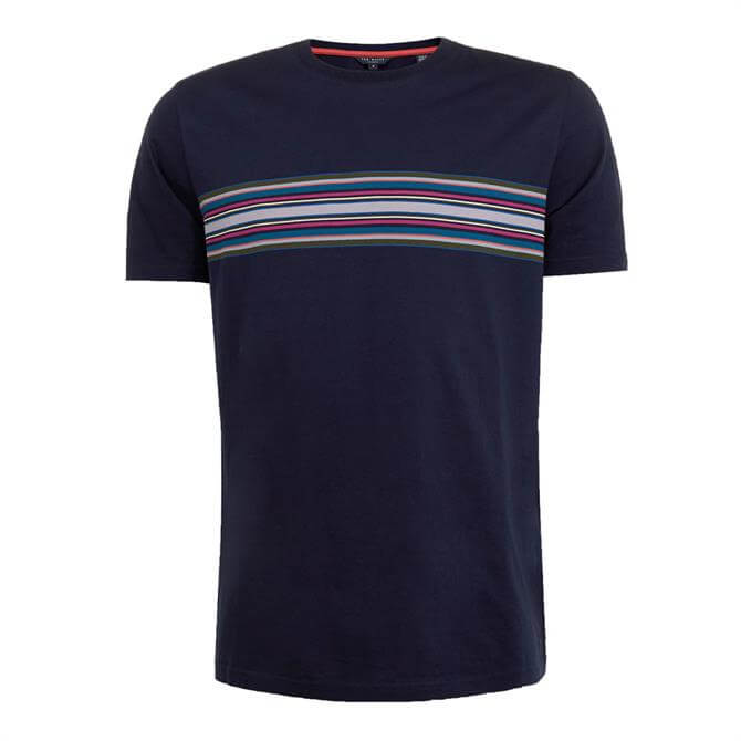 Ted Baker Bevvy Stripe Detail Cotton T-Shirt