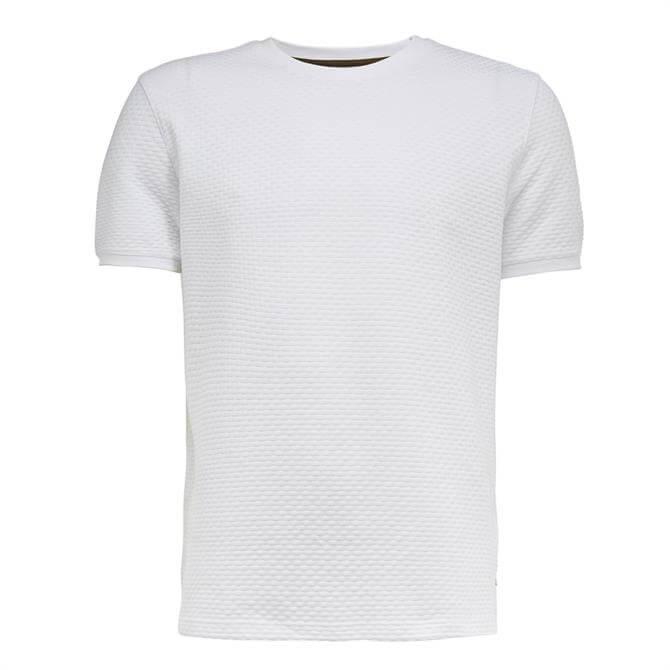 Ted Baker Caramel White Textured Cotton T-Shirt