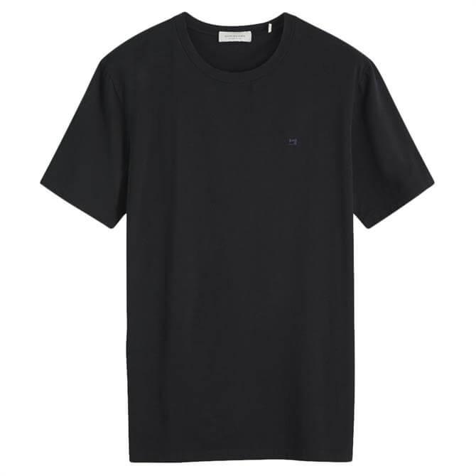 Scotch & Soda Classic Logo Embroidered T-Shirt