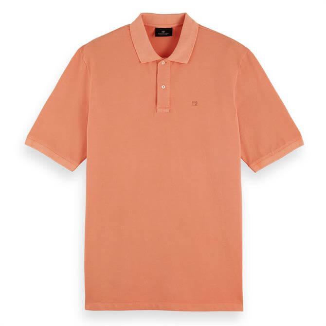 Scotch & Soda Garment-Dyed Cotton Polo Shirt