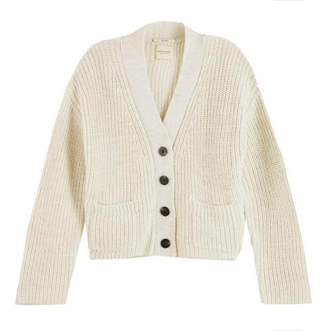 Scotch & Soda Rib Knit Wool-Alpaca Blend Cardigan