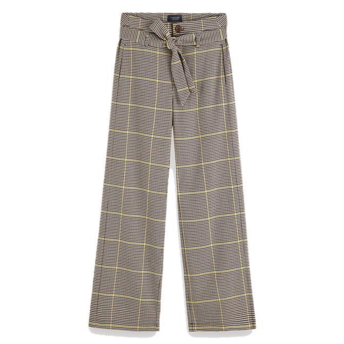 Scotch & Soda Checked Wide Leg Trousers