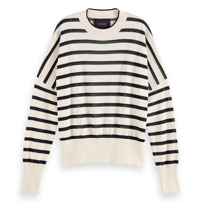 Scotch & Soda Knitted Striped Sweater