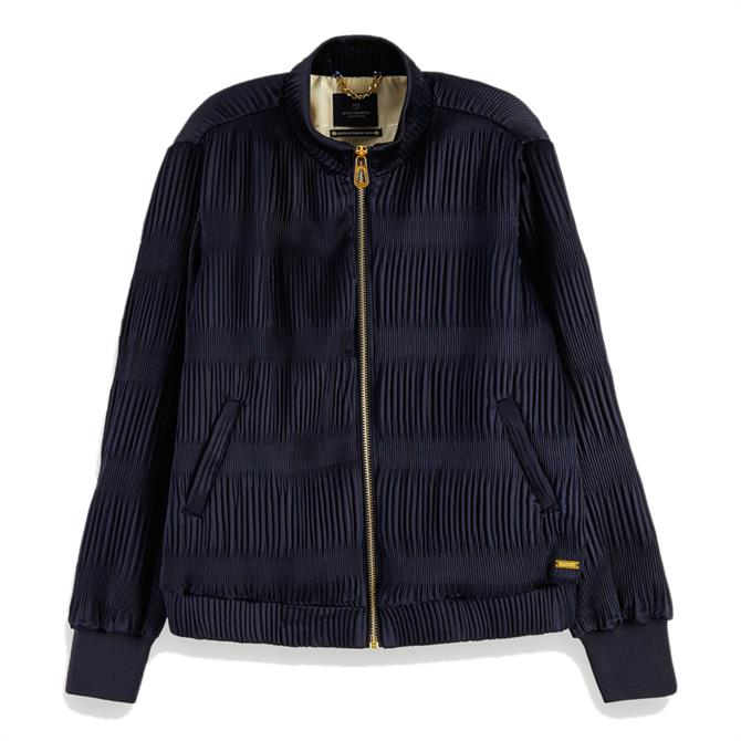 Scotch & Soda Pleated Bomber Jacket