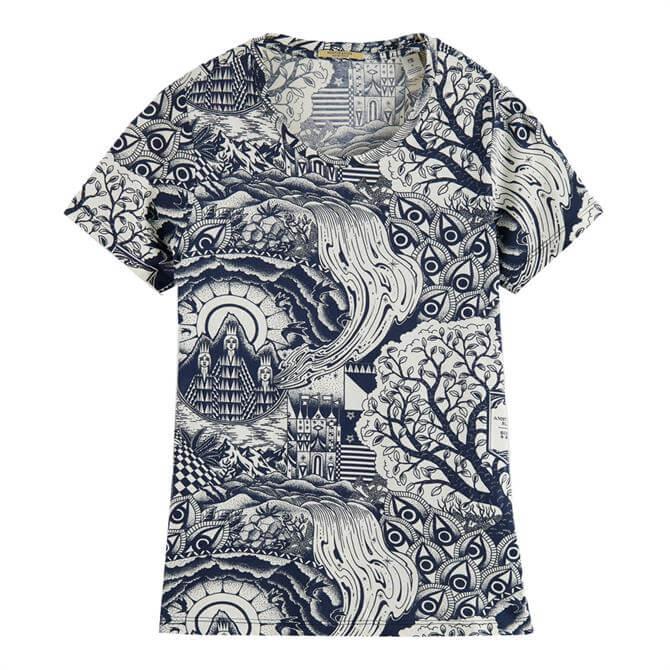 Scotch & Soda Sketch Printed T-Shirt