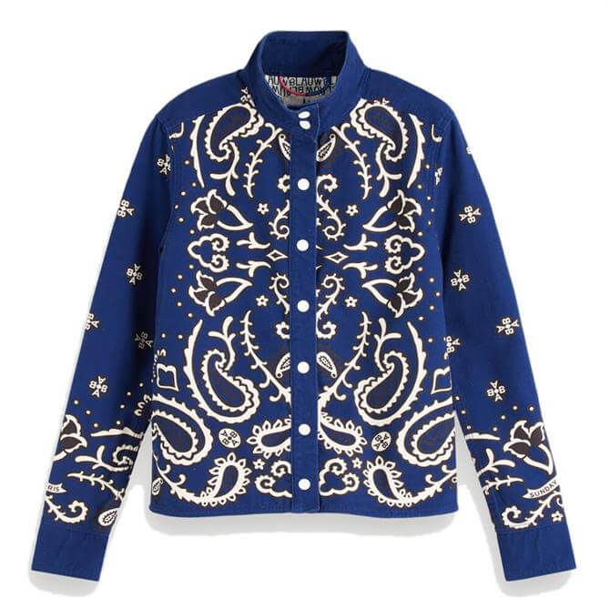 Scotch & Soda Bandana Print Canvas Jacket