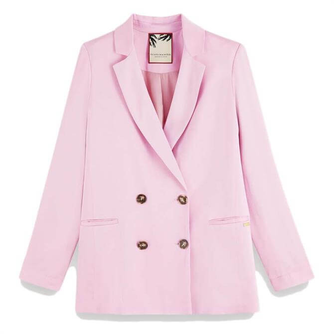 Scotch & Soda Pink Crepe Blazer