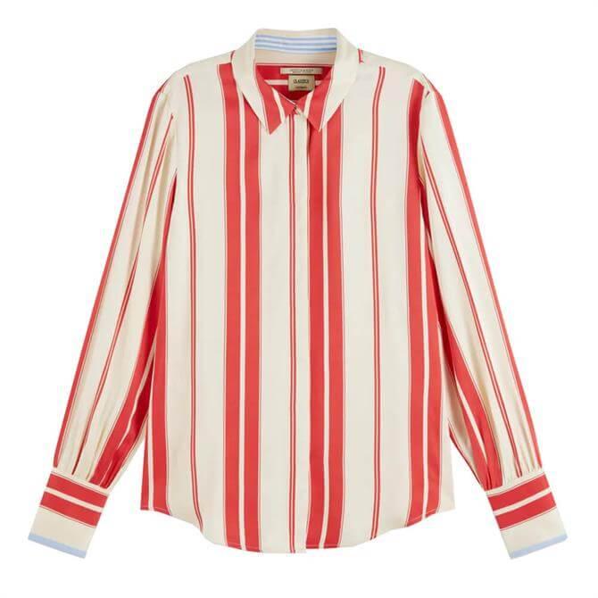 Scotch & Soda Striped Satin Shirt