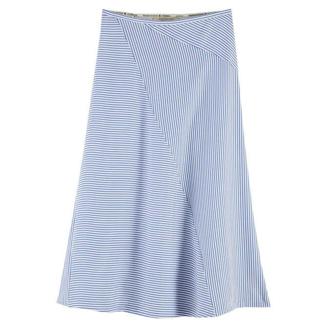 Scotch & Soda Bias Cut Midi Striped Skirt