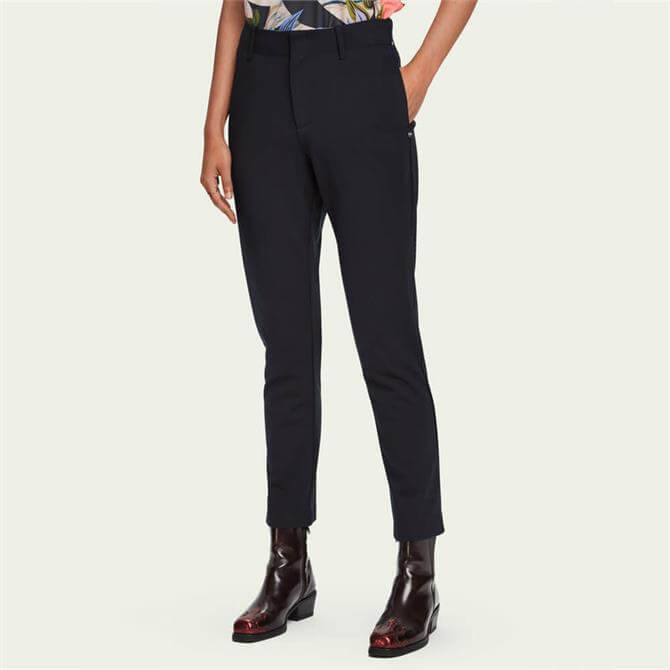 Scotch & Soda Tailored Mid-Rise Stretch Trousers