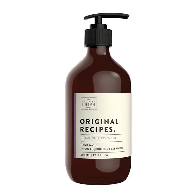 The Scottish Fine Soap Co. Geranium & Lavender Hand Wash 500ml