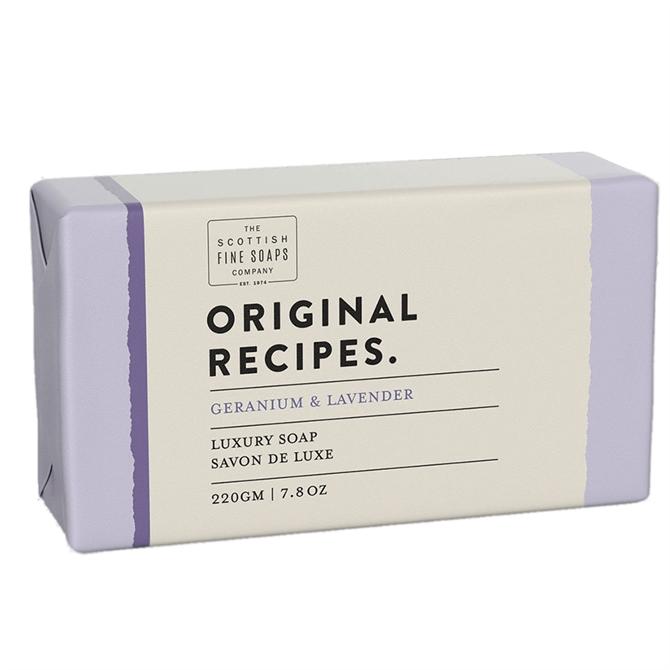 The Scottish Fine Soap Co. Geranium & Lavender Luxury Soap Bar 220g