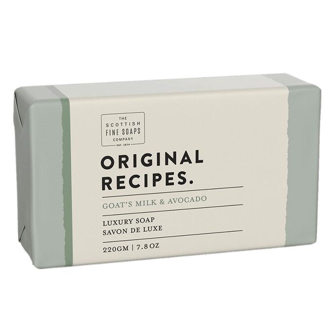 The Scottish Fine Soap Co. Goats Milk & Avocado Luxury Soap Bar 220g