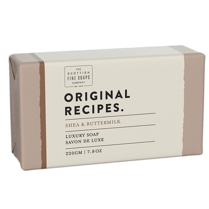 The Scottish Fine Soap Co. Shea & Buttermilk Luxury Soap Bar 220g